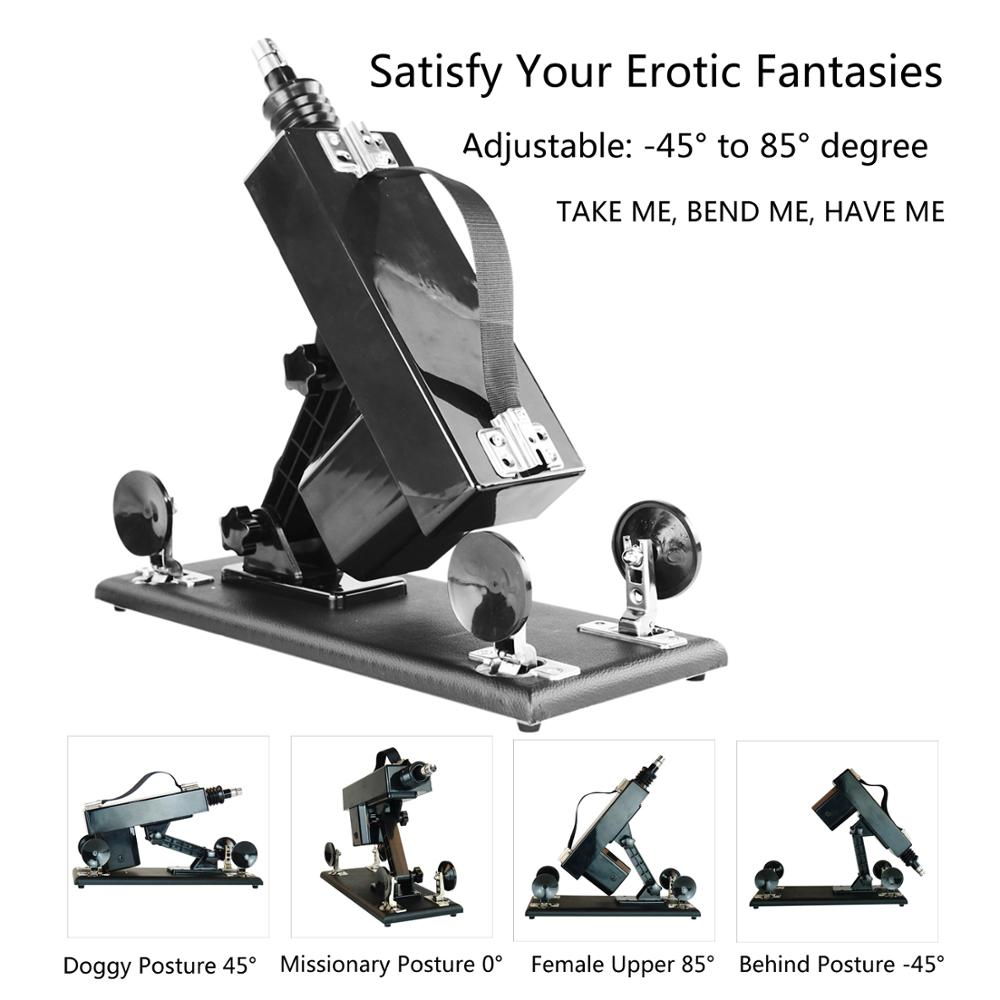 FREDORCH Sex Machine Automatic With Dildo Attachments Female Masturbation Pumping Gun Sex Product Toy For Women Vibrator Machine