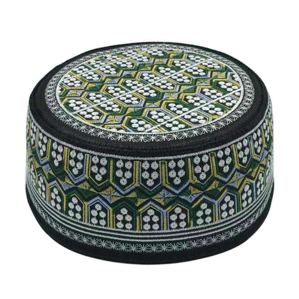 Арабский индийский мусульманская шляпа Ислам ism мусульманская шляпа Ислам шляпа kippa вышивка молитва еврейская шляпа мусульманские товары Саудовская Аравия шляпы для мужчин