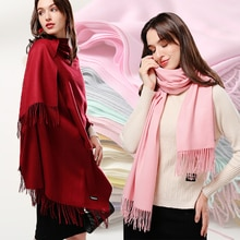Women Cashmere Scarf Solid Thick Warm casual Winter Scarves for Ladies Hijabs Pashmina Shawls Wraps