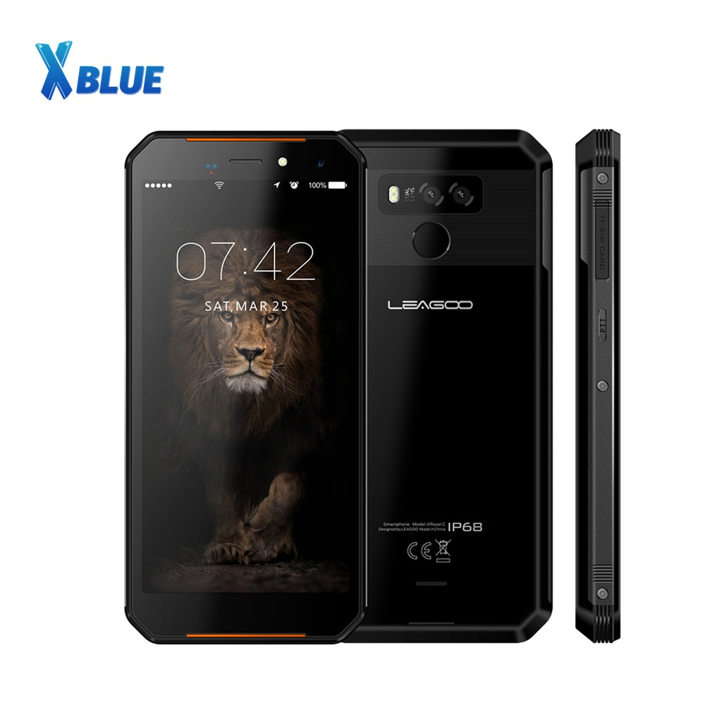 Купить Новинка смартфон LEAGOO XRover C IP68 мобильный телефон 5,72 дюйма IPS 2 гб озу 16 гб пзу 13 мп NFC 5000 мач отпечаток лица 4G LTE