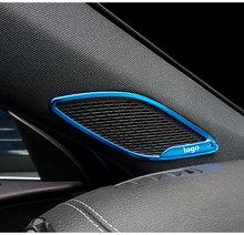 Car modeling Inner Front Door A Pillar Speakers Cover Trim 2Pcs/Set For Mercedes Benz A Class W177 V177 A180 A200 2019