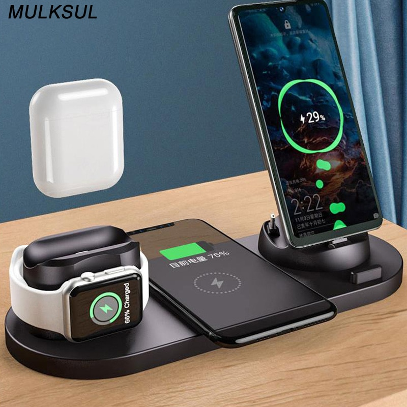 2021 Wireless Charger for iPhone 12 Pro Max 11 Xs Max 8 Plus 10W Fast Charging Pad for Apple Watch 6