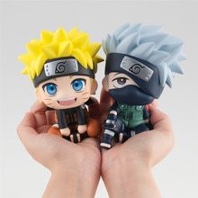 Look Up Anime Naruto Hatake Kakashi Uzumaki Naruto PVC Action Figure Model Collection Toys