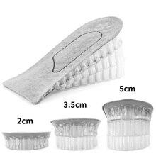 1 paio di solette per scarpe mezza soletta traspirante aumentare l'inserto del tallone scarpe sportive cuscino imbottito Unisex solette con rialzo di altezza 2/3/5cm