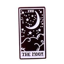 Moon Tarot card enamel pin divination lovers gift
