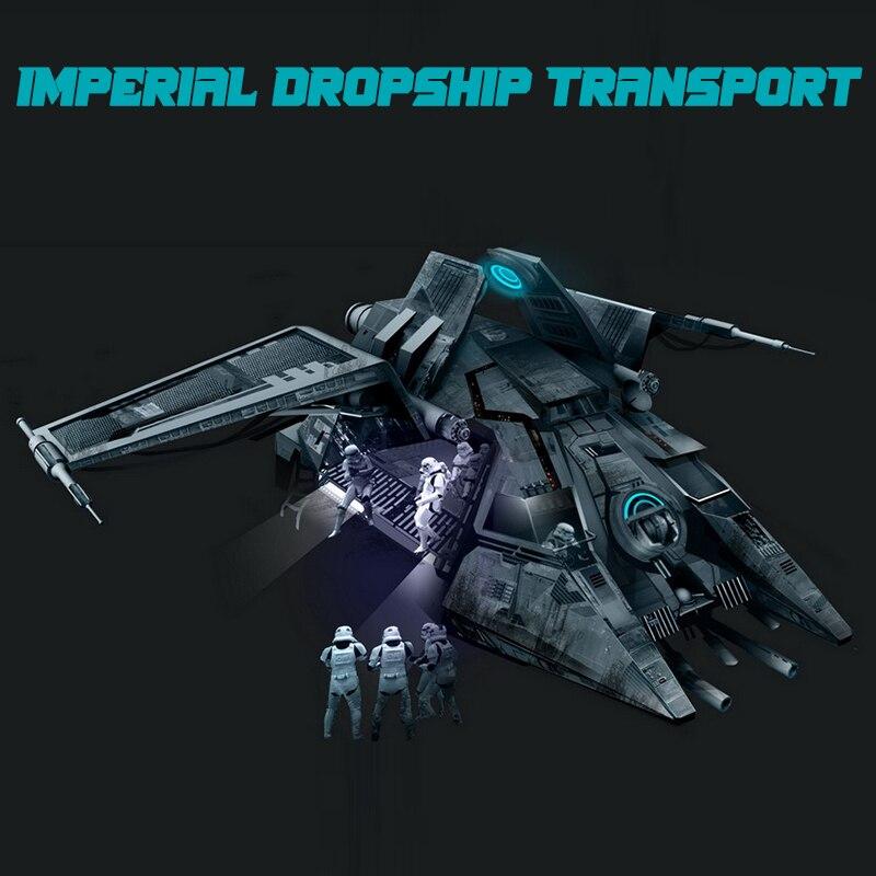 MOC اللبنات ستار فيلم الإمبراطورية التكنولوجيا الفائقة دروبشيب النقل سلاح عسكري نموذج اللعب هدية