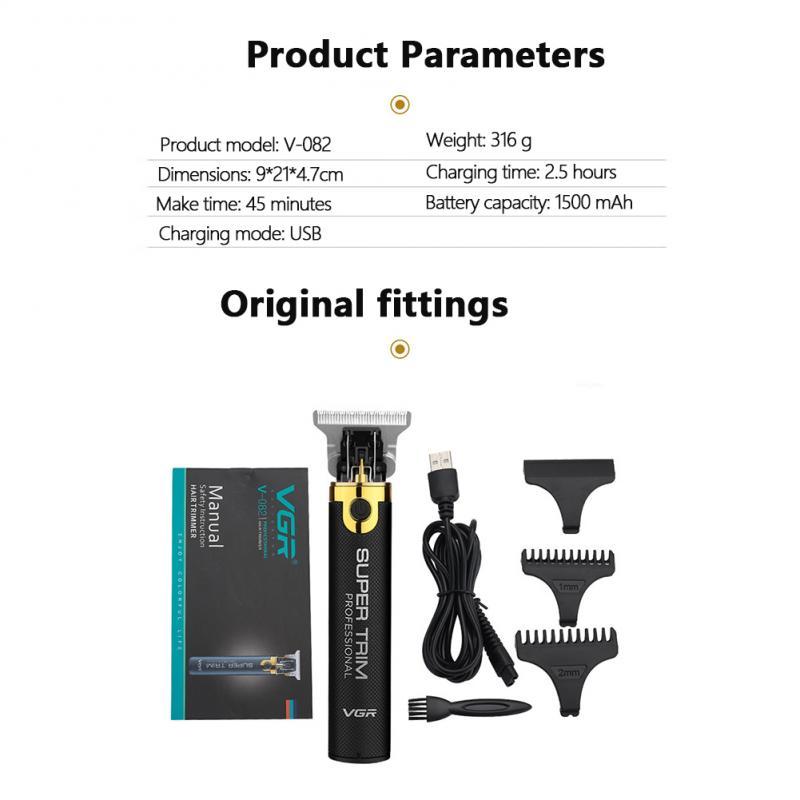 VGR V-082 3 IN 1 Cordless Hair Clipper Hair Trimmer For Men Wireless Portable Hair Clipper Barber Hair Cutting Machine enlarge