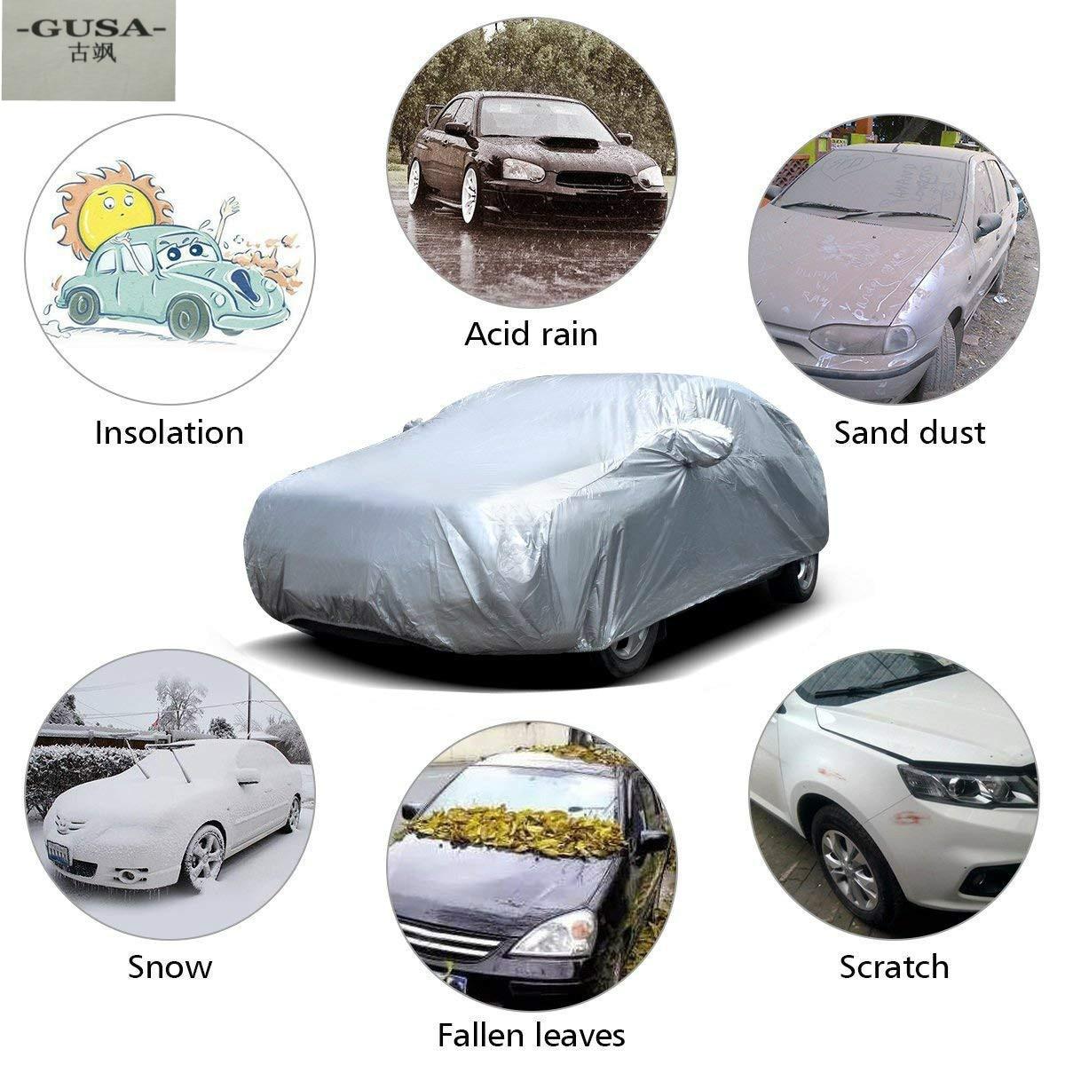 Cubierta de coche para Skoda octavia Rapid Yeti Karoq Kodiaq GT fabia con cremallera de apertura lateral a prueba de polvo impermeable Protector solar