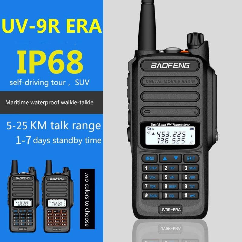 2 قطعة 25 كجم BaoFeng UV-9R عصر 10W 4800mAh أعلى من baofeng UV-9R زائد dmr cb راديو comunicador للماء اسلكية تخاطب рация
