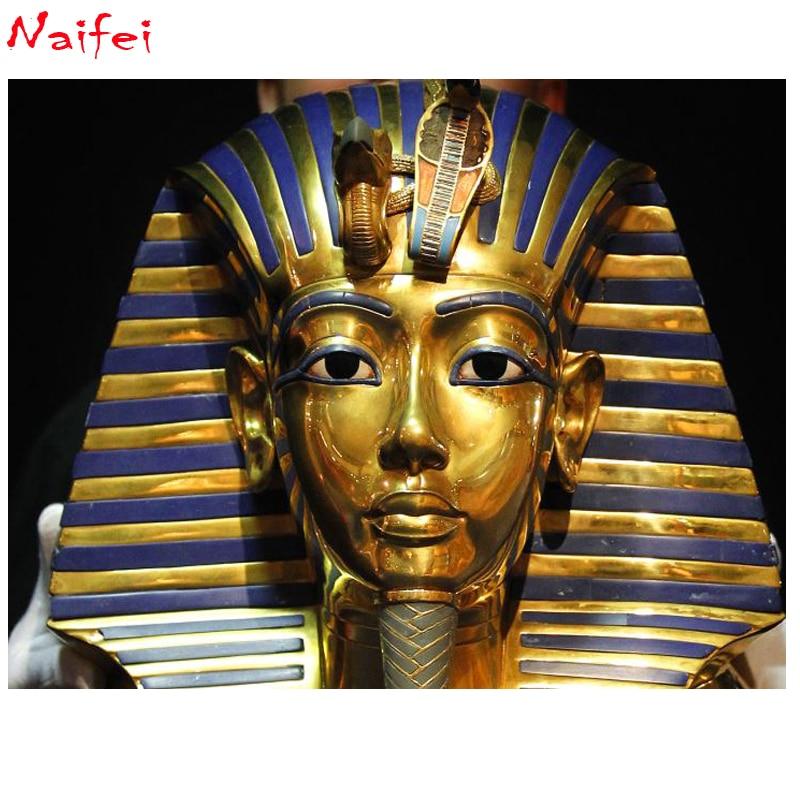 "Cuadrado completo/redondo taladro 5D DIY diamante pintura ""Egipto Faraón"" estrás bordado pintura punto de cruz 5D hogar Decoración regalo"