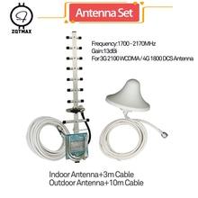 ZQTMAX Yagi omni antenne für freies hbo 1700-21700MHz handy signal booster dcs wcdma repeater LTE 1800 UMTS 2100 verstärker