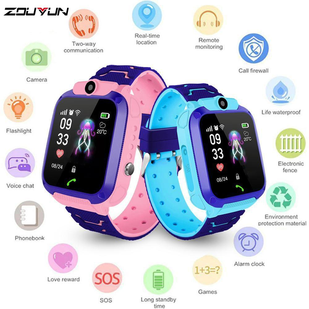 Children's Smart Watch Kids Phone Watch Smartwatch For Boys Girls  With Sim Card Photo Waterproof IP