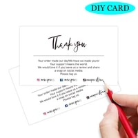 30pcs thank you card for small business gift packing custom gift decor card thank you for your order inserts goods follow card