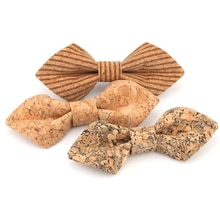 Ricnais Cork printed bow tie made of special materials Pointed Bow Tie Men For Business Wedding Part