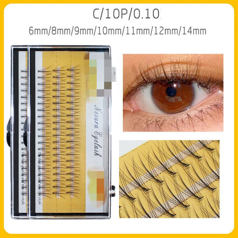 60pcs Professional Makeup Individual Cluster EyeLashes Grafting Fake False Eyelashes eyelash extension individual eyelash bunche недорого