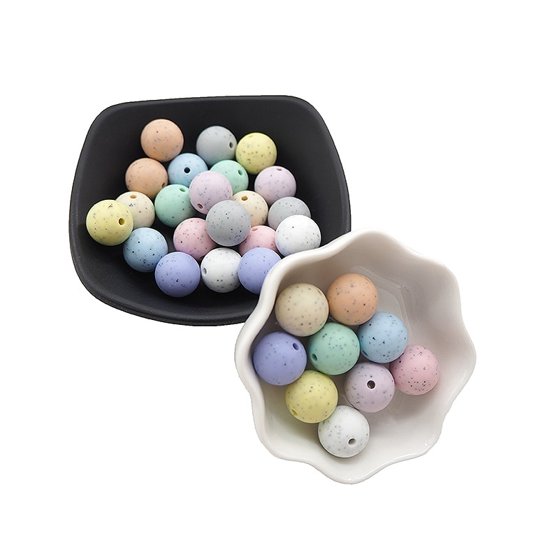 Chenkai 15mm 1000PCS Silicone Round Beads BPA Free Baby Teething Bead Food Grade For DIY Infant Soothing Chewable Toys Accessory