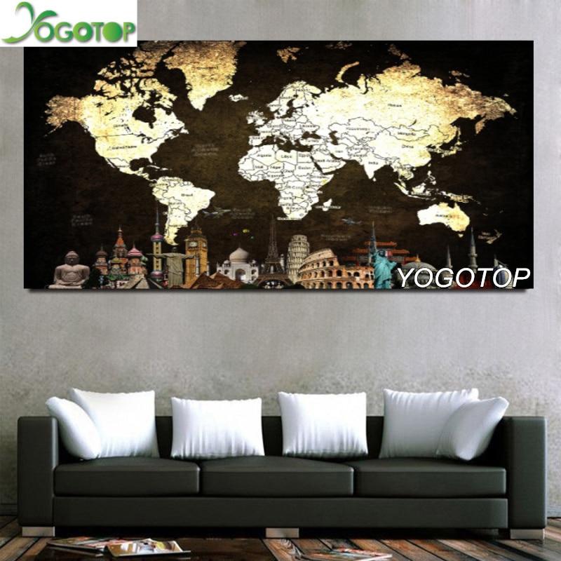 Peinture en diamant 5D broderie   Bricolage, grande décoration carrée ronde en mosaïque avec des strass, New York city, YY2676