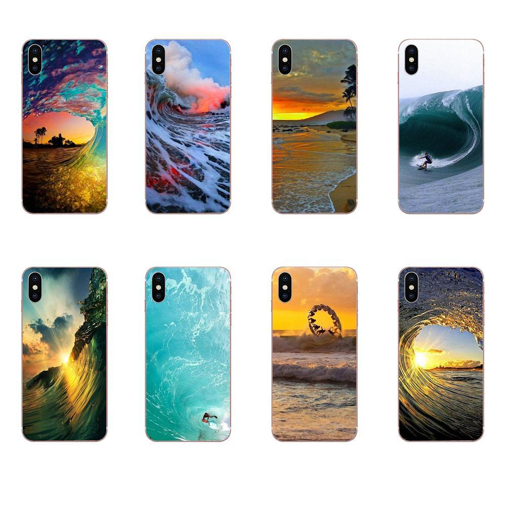 TPU Original Xiaomi Redmi Mi 4 7A 9T K20 CC9 CC9e Nota 7 9 Y3 SE Pro primer jugar surf en Hawai en escena del océano
