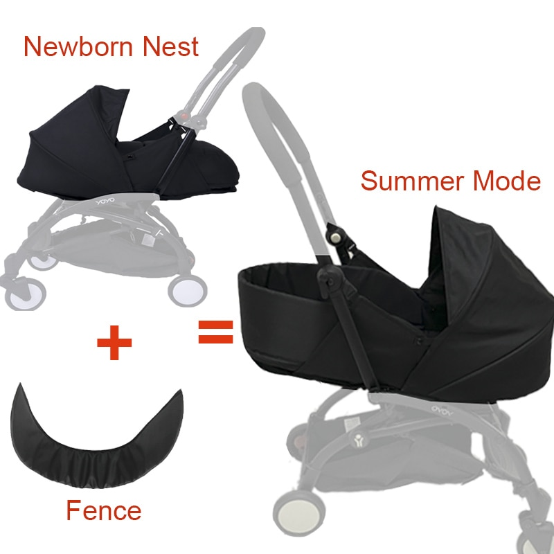 Baby Stroller Sleeping Basket 0-6M Newborn Birth Nest For Babyzen Yoyo Yoya Pram Infants Winter Slee