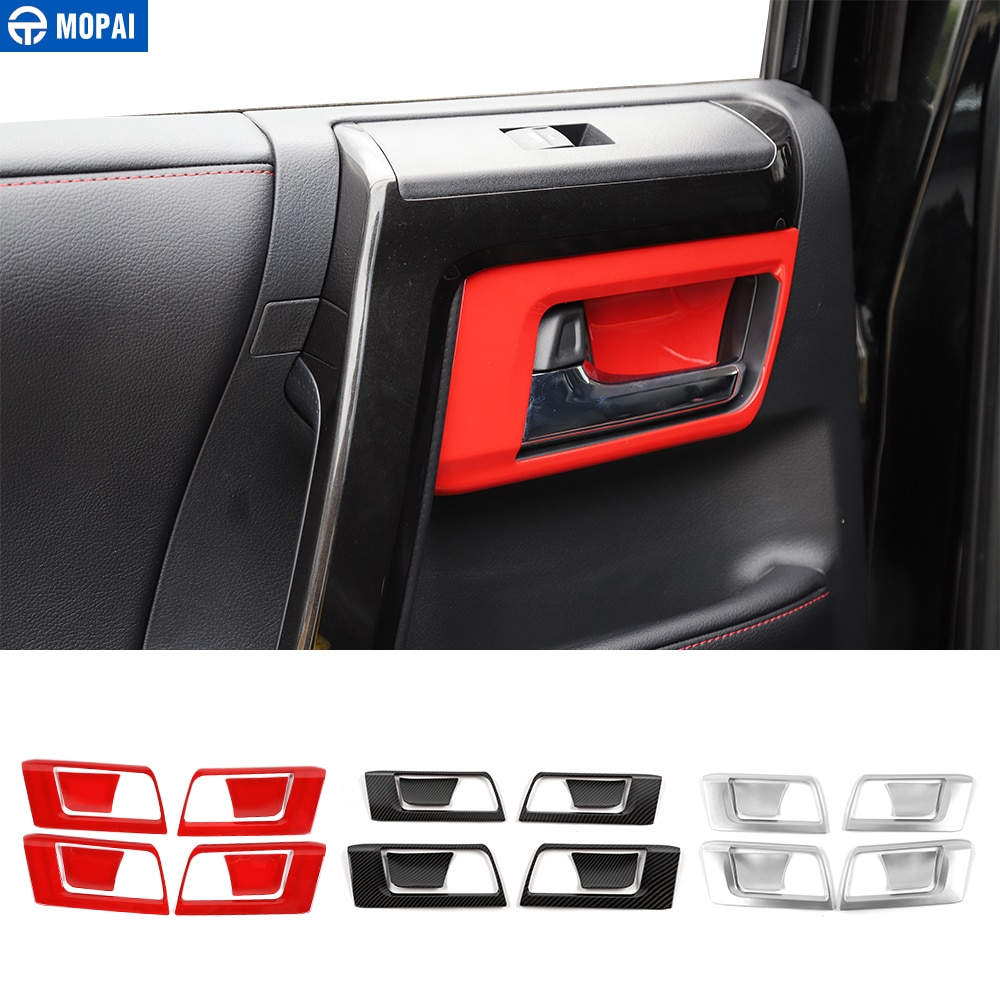 MOPAI Interior Mouldings for 4Runner 2010+ Car Interior Door Handle Bowl Decoration Cover Accessories for Toyota 4Runner 2010+
