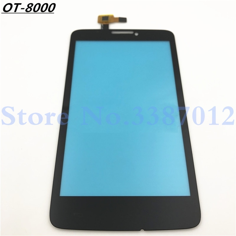 Panel de lente de cristal exterior con Sensor digitalizador de pantalla táctil de alta calidad para Alcatel One Touch escribe Easy OT 8000 8000D OT8000