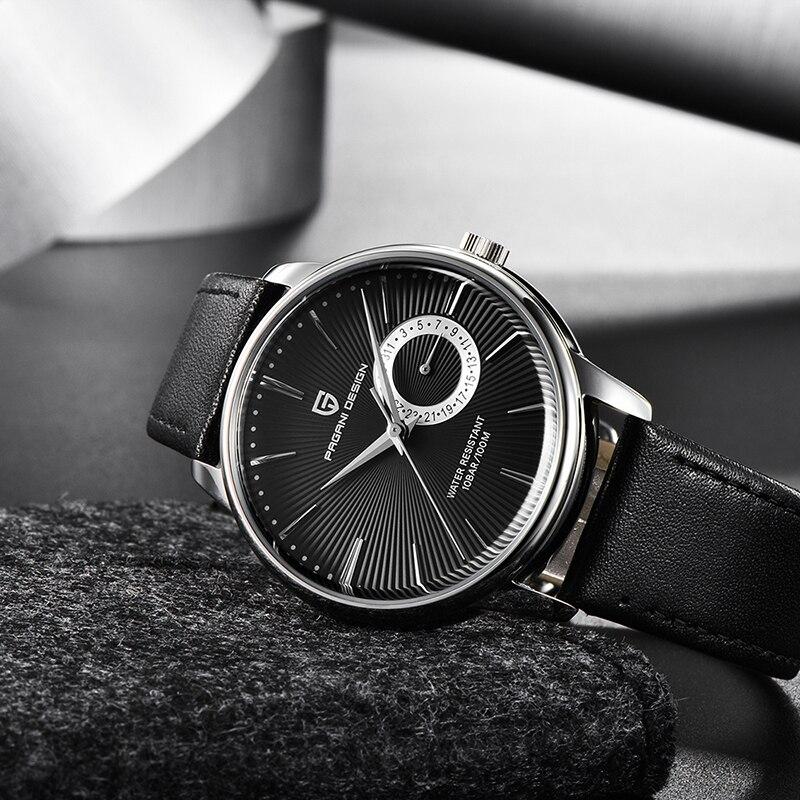 Marca de Luxo Fitness à Prova Relógio de Quartzo Relógio de Negócios para Homem Pagani Design Relógio Esportes Dwaterproof Água 100m Masculino Couro Casual 2021