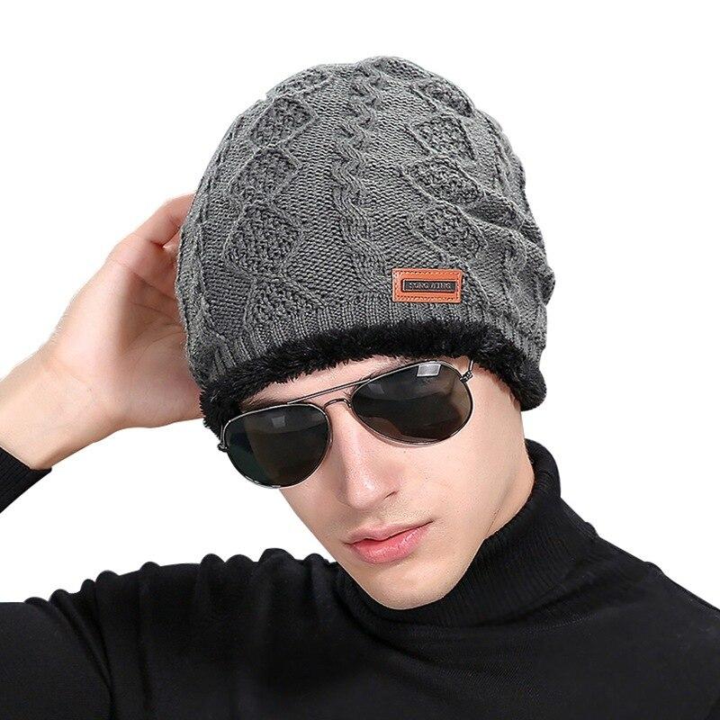 Drop Verschiffen Dichtung Mützen Winter Hüte für Männer Gestrickte Hut Mit Tag Warm Baggy Stretch Stricken Chunky Kabel Beanie Ski kappe