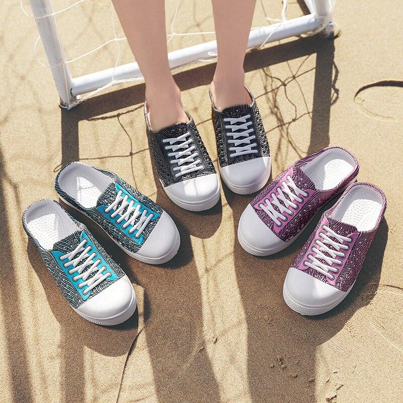 Zapatillas de mujer a rayas Nido de Pájaro sandalias zapatos de mujer zapatos de playa zapatos transpirables