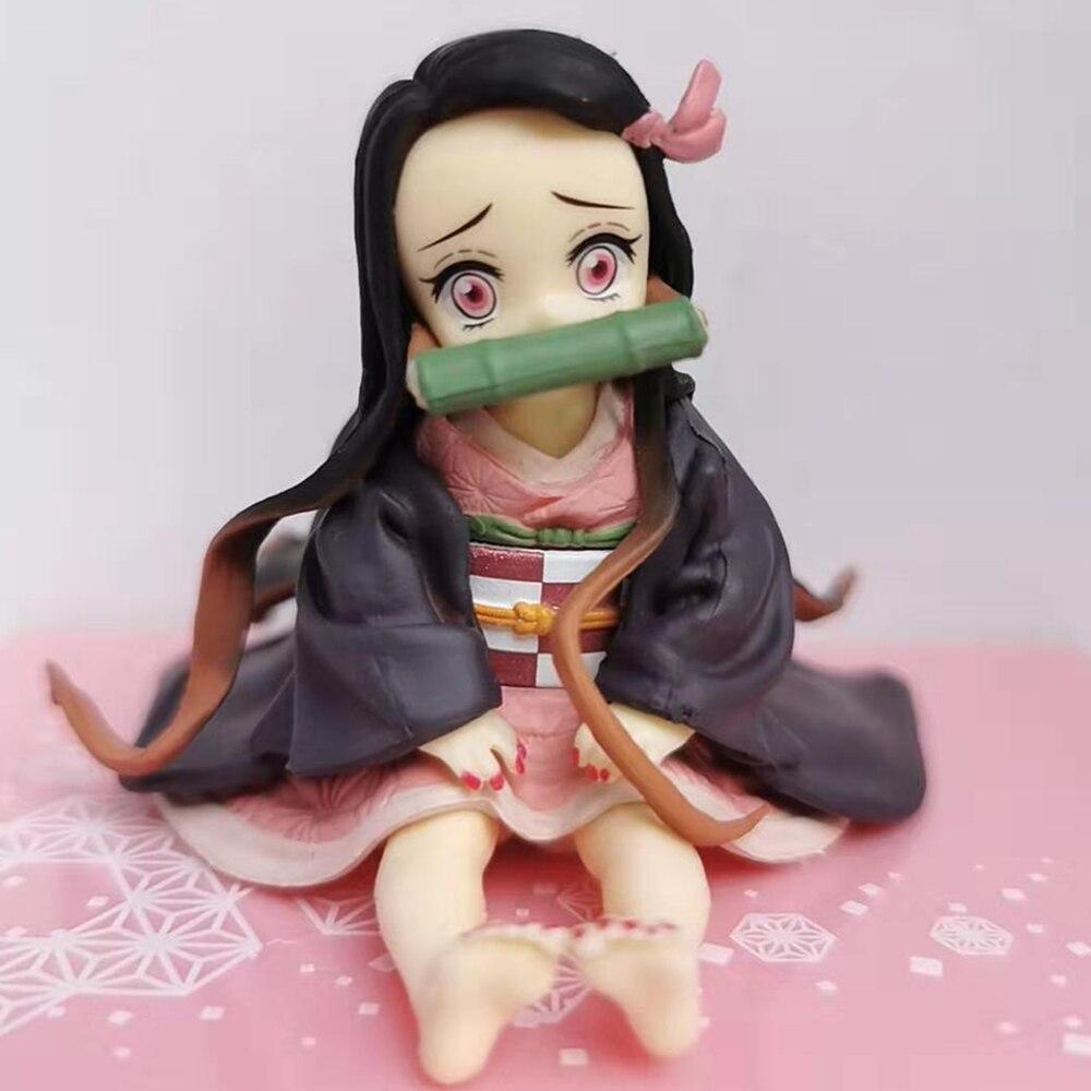 Figuras de Anime Kamado Nezuko Kimetsu no Yaiba figuras de acción demonio Slayer juguetes lindos para niños modelo coleccionable PVC muñeca Figma