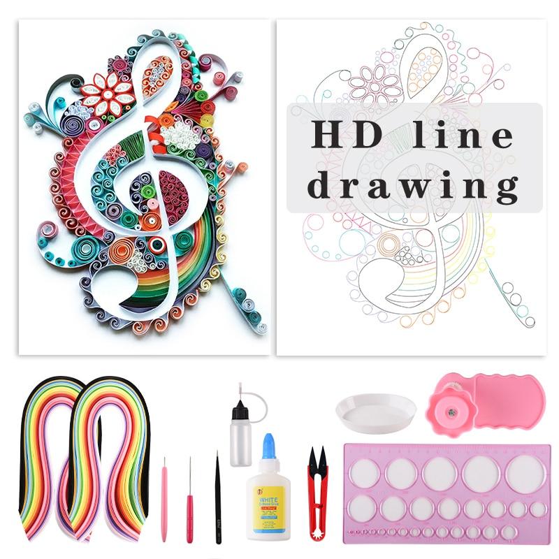 DIY музыкальные заметки, бумага для рисования, дизайнерская бумага для оригами, домашний декор, Крафтовая бумага для декустажа, набор инструм...