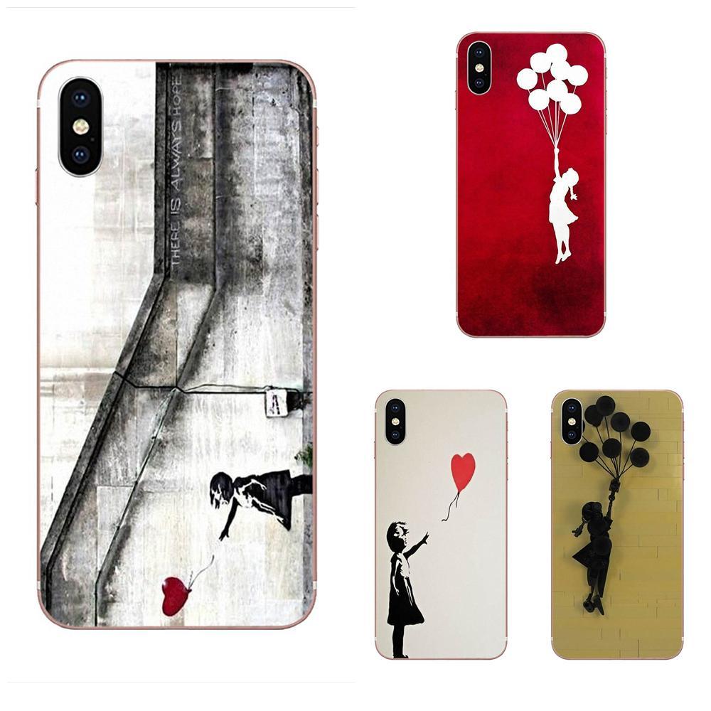 Banksy Balloon Girl Graffiti For Apple iPhone 4 4S 5 5C 5S SE 6 6S 7 8 Plus X XS Max XR Soft Quinn Phone