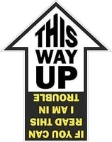 Este Way Up  If You Can Read This I M IN Trouble Funny Jdm Stickers for Cars  Motos  Laptops  Industry