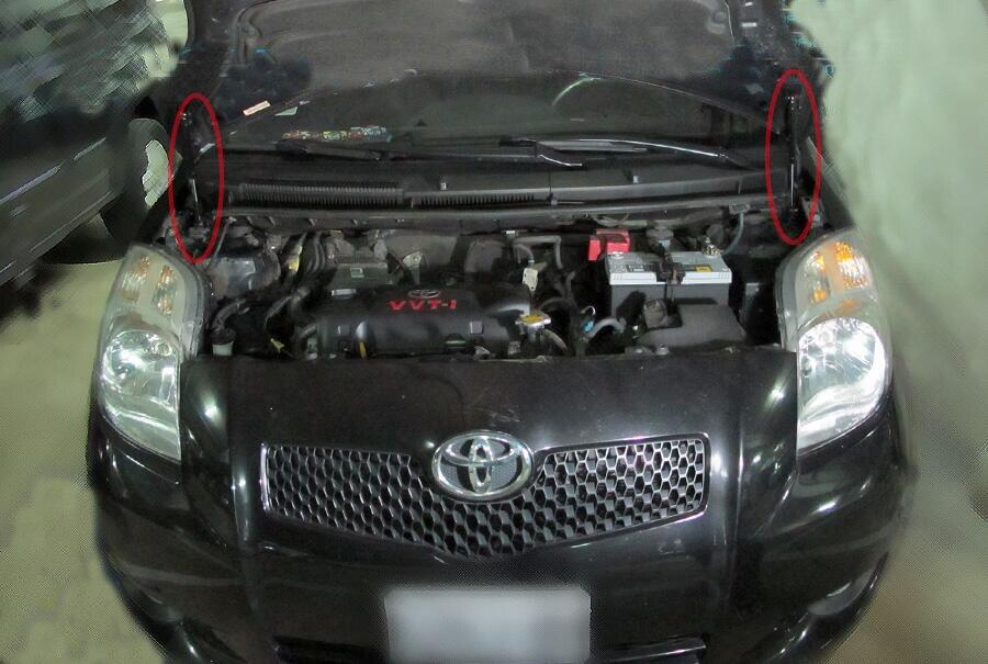 Para toyota yaris vitz belta xp90 2005-2013 capô dianteiro modificar suportes de gás elevador suporte amortecedor