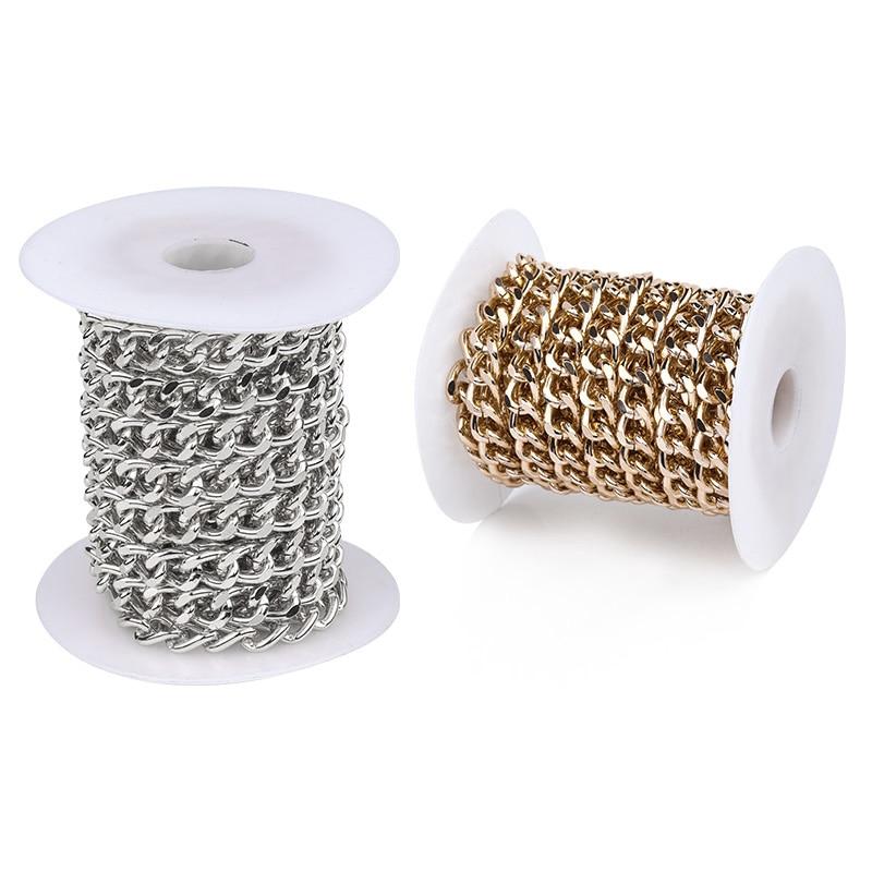5 м/лот из алюминиевой стали цвет о-цепь для браслет бижутерия ручной работы ожерелье DIY сумки хвост удлинитель цепи поставки оптом