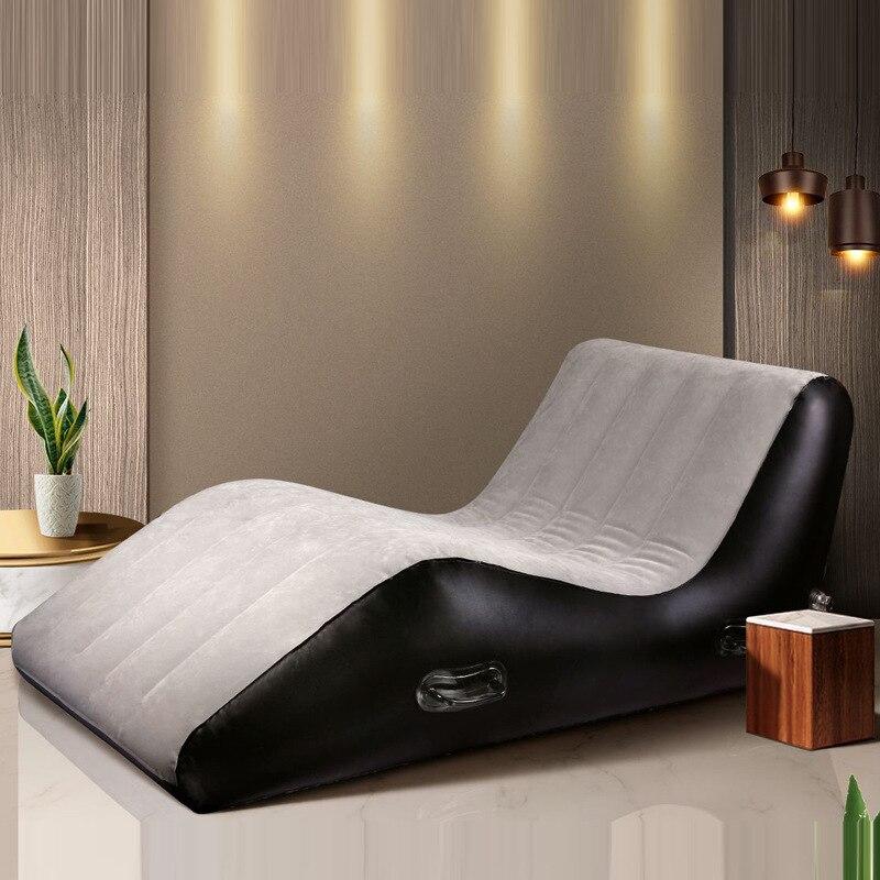 SM Fun надувной светильник роскошный S-образный портативный массажный стул с эффектом Push Oil для пар секс-игрушки для взрослых