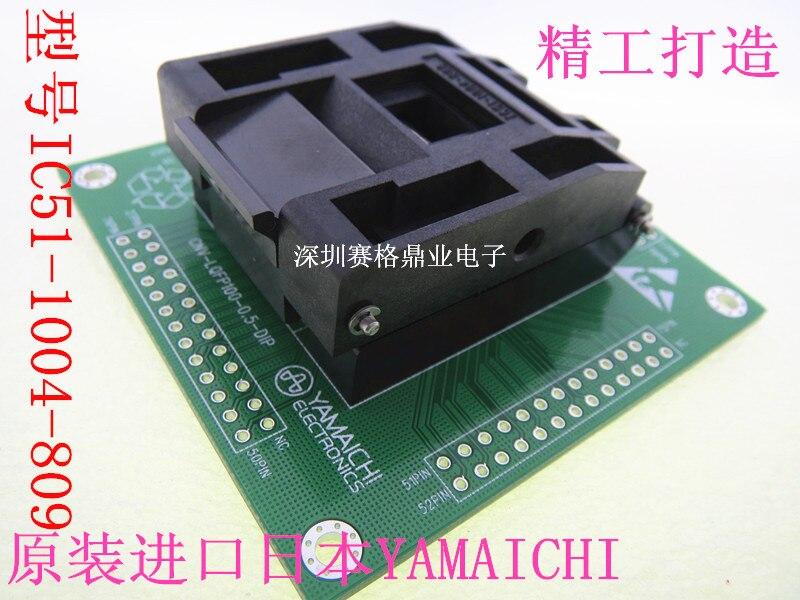 IC51-1004-809 QFP100 LQFP100 TQFP100 16X16mm 14X14mm IC tests sitz Test Buchse prüfstand block QFP100 Programmierung sitz