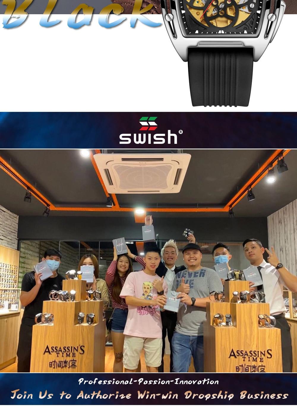 Hc5b3d01f057047f19804f3c58d5535a6Z SWISH Brand Design Luxury Men's Mechanical Wristwatch