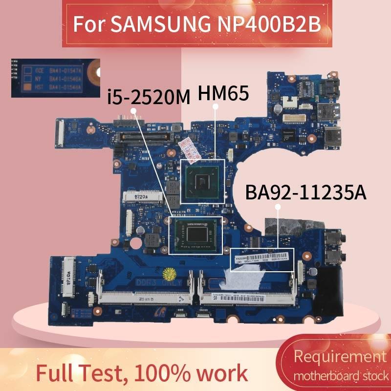 BA92-11235A placa base de computadora portátil para SAMSUNG NP400B2B I5-2520M portátil placa base BA41-01548A SR04A DDR3