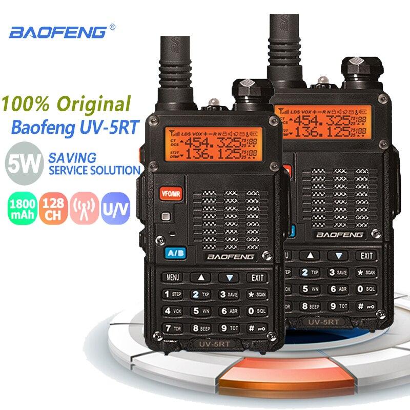 2pcs Baofeng UV-5RT Walkie Talkie Dual Band Uhf Vhf Fm Radio Frequency Ham Radio Hf Transceiver Baofeng radio comunicador walkie