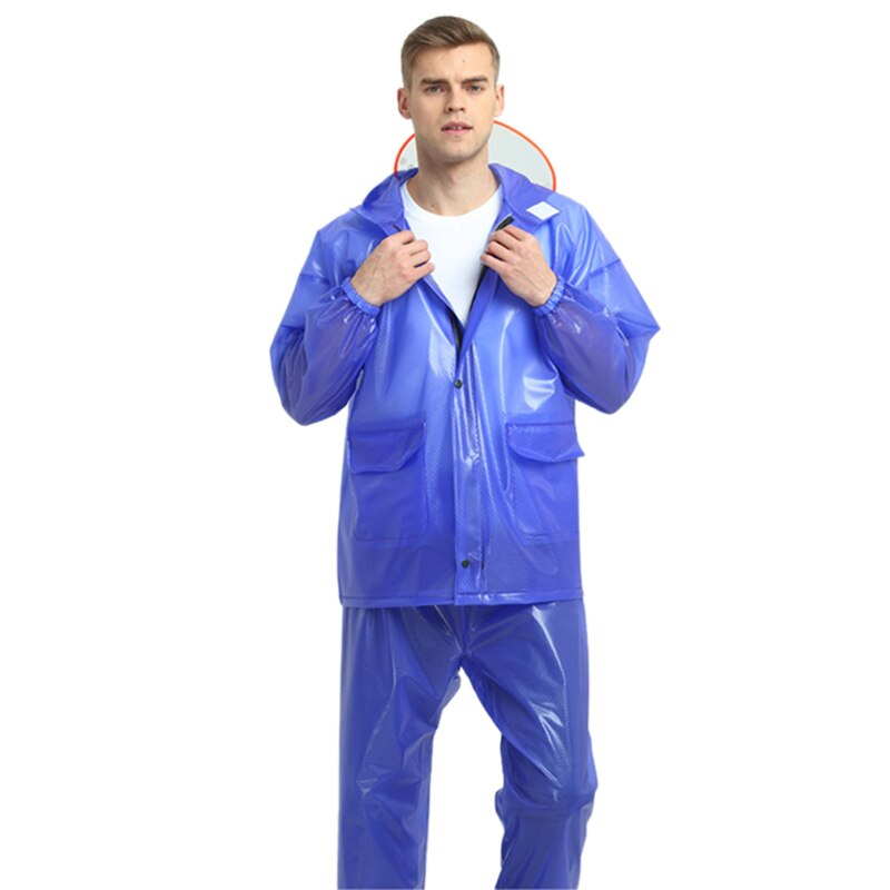 Impermeable para hombre, impermeable, para ciclismo, para correr, impermeable, con capucha, 2 piezas, para lluvia