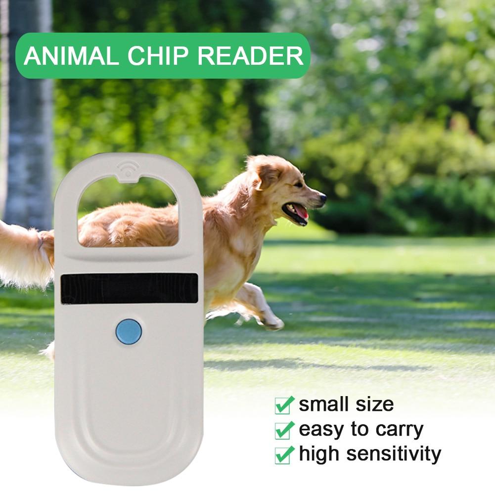 المحمولة OLED عرض معرف الحيوان رقاقة قارئ قابلة للشحن رقاقة فك يده الحصان الحيوانات الأليفة الماسح الضوئي 134.2Khz FDX-B USB العلامة