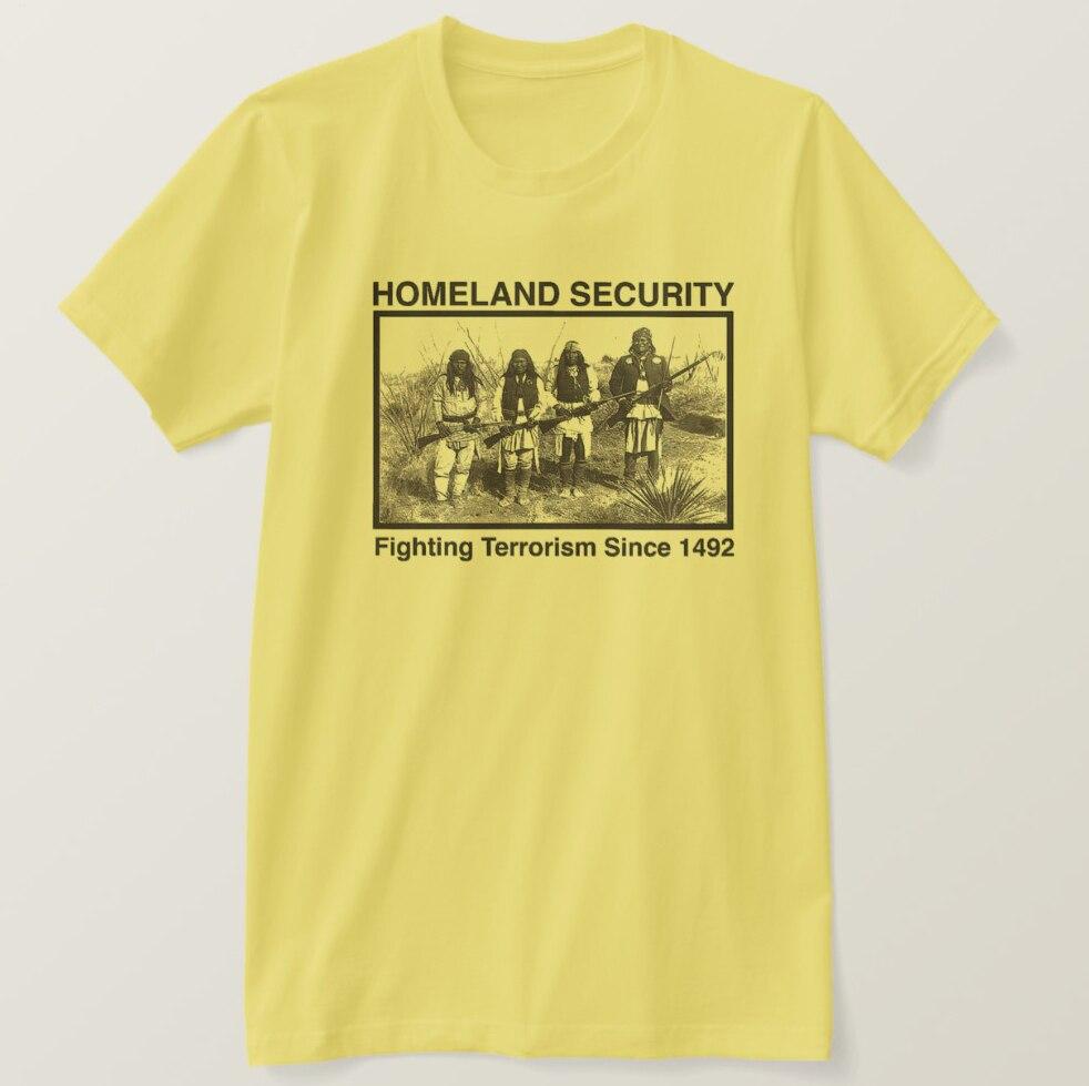 2019 camiseta estampada para hombre, de seguridad nacional de manga corta Camiseta de algodón, camiseta para mujer