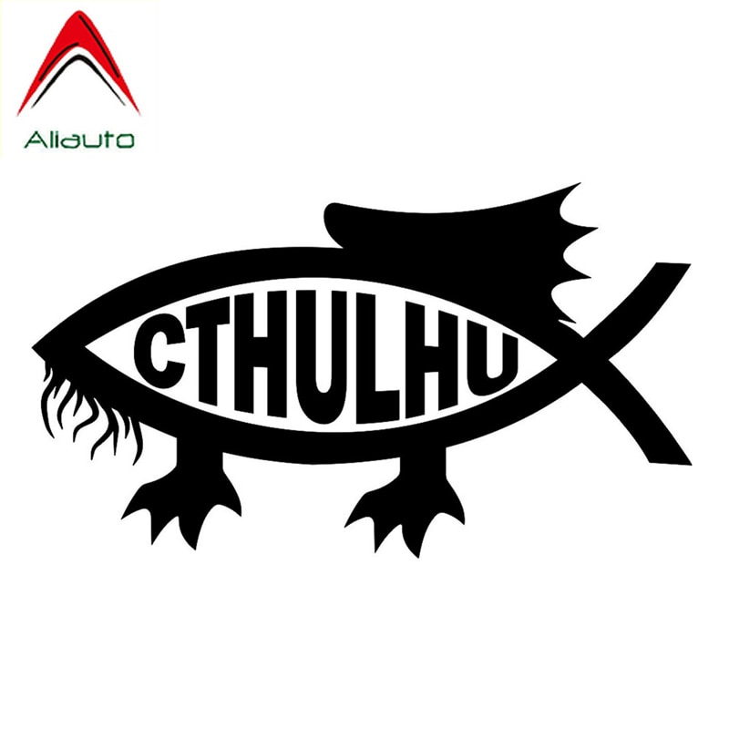 Aliauto kreatywny samochód naklejki Cthulhu ryby modna dekoracja akcesoria winylowe naklejka z PVC dla Toyota Rav4 Hyundai Accent Rav4,13cm * 7cm