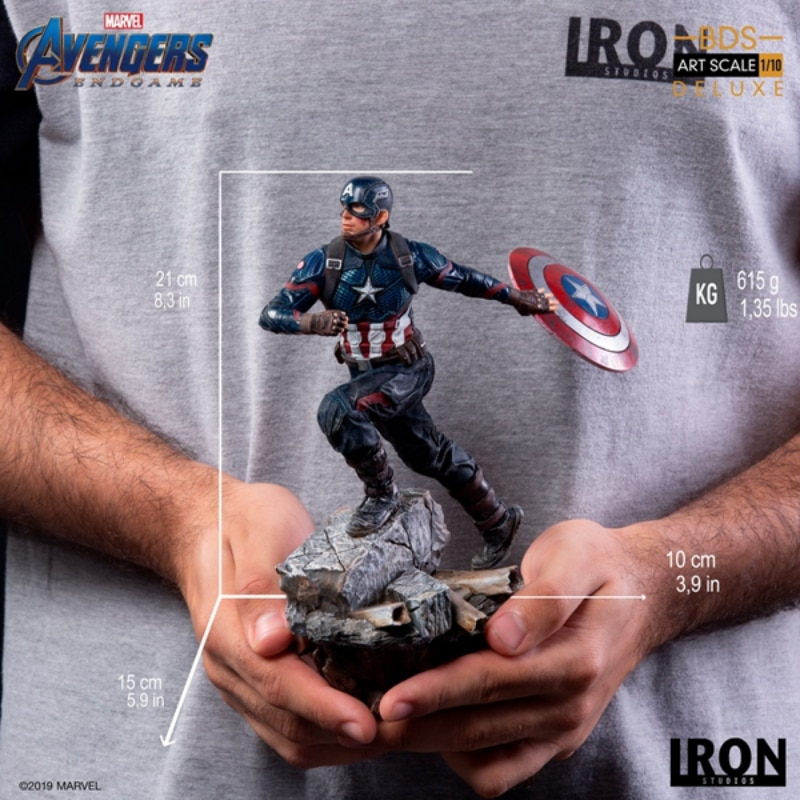 IRON STUDIOS Brazil Factory 1 10 Avengers 4 Captain America American Team DX Edition Spot