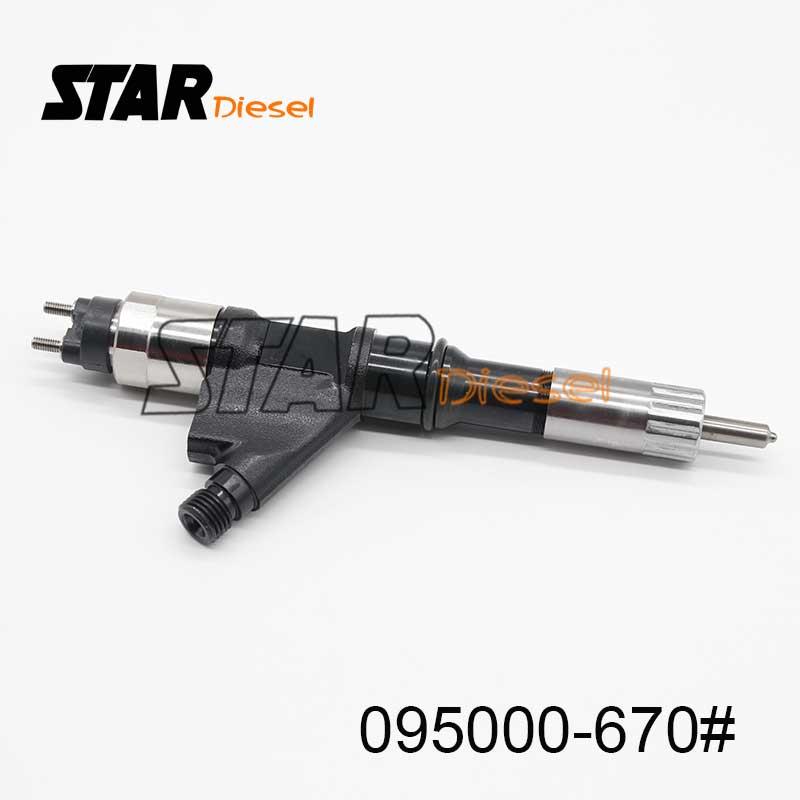 095000-6701 inyector Original 0950006701 inyector de combustible 6701 Auto inyector de combustible 095000-6702 para WD615, HOWO, SINOTRUK