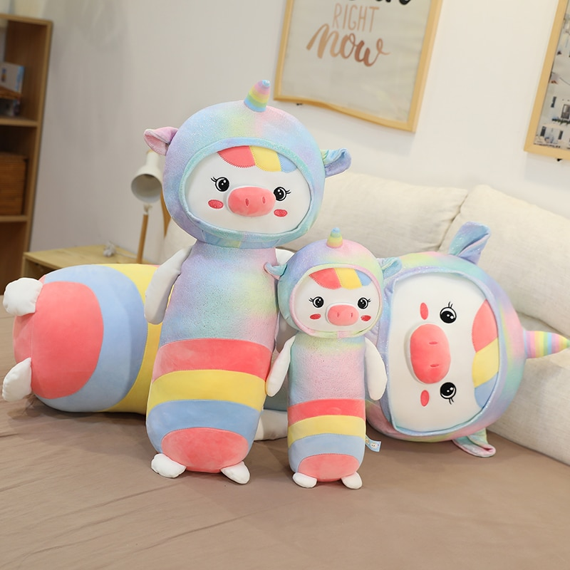 new arrive cat with fish pattern plush toy baby soft plush toys for children stuffed animal cat plush toy gift for kids birthday New Arrive Colorful Unicorn Plush Toy Pillow Baby Soft Plush Toys For Children Stuffed Animal Plush Toy Pillow Gifts for Kids
