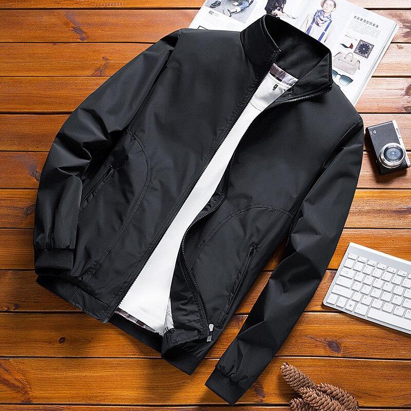 Männer Bomber Jacke 2020 Frühling und Herbst Casual Jacke Mens Fashion Stehkragen Zipper Mäntel Marke Baseball Mantel Männer Kleidung