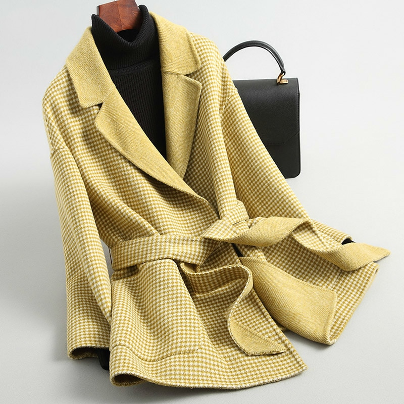2020 nuevo Abrigo de lana para Mujer Abrigo coreano de Alpaca a...