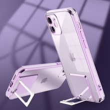 Plating Square Ring Holder Stand Case For iPhone 11 12 Pro Max XS X XR SE 2020 7 8 Plus Shockproof B