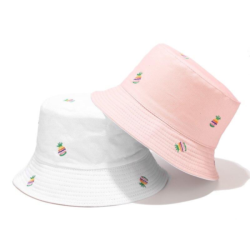 Nuevo estilo, estampado de frutas de piña, sombrero de pescador, sombrero de viaje al aire libre, sombrero para el sol, gorra, sombreros para hombres y mujeres 136